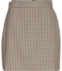 2nd chariton check knälång kjol beige 2ndday
