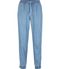 jeans in lino e tencel™ lyocell con elastico in vita (blu) - john baner jeanswear