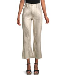 joe's jeans women's utility high-rise flare jeans - natural - size 31 (10)