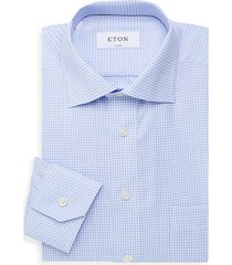 checkered classic-fit button-front dress shirt
