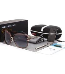 gafas lentes sol mujer barcur cuadradas polarizadas uv400 8702 café