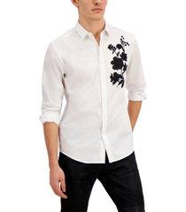 inc men's long-sleeve gaston shirt, created for macy's