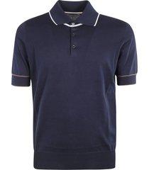 brunello cucinelli classic ribbed polo shirt