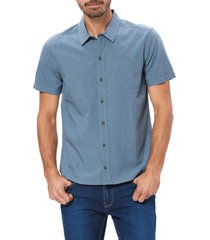 men's paige brayden pinstripe short sleeve button-up shirt