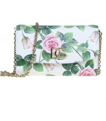 dolce & gabbana microbag in calf leather with print