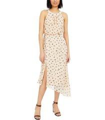 inc burnout animal-print asymmetrical midi dress, created for macy's