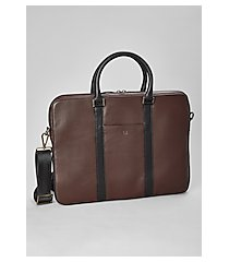 jos. a. bank leather soft sided briefcase