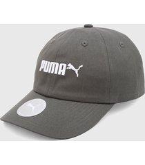 gorra gris-blanco  puma essentials n2 logo