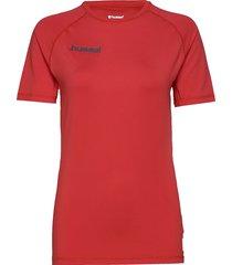 hml first performance jersey s/s t-shirts short-sleeved röd hummel