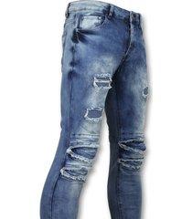 new stone broeken met scheuren mannen blauw