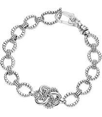 lagos 'love knot' link bracelet in sterling silver at nordstrom