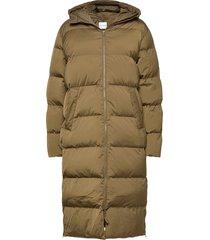 sera coat 12891 gevoerde lange jas groen samsøe samsøe