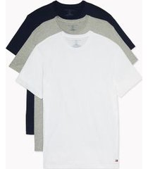 tommy hilfiger men's cotton classics crewneck undershirt 3pk grey/white/black - l