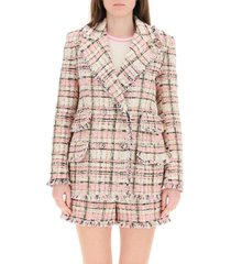 tartan tweed blazer