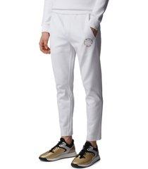 boss men's halboa circle open white pants