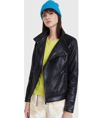 chaqueta desigual negro - calce regular
