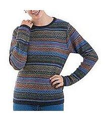 100% alpaca pullover, 'cozy midnight' (peru)