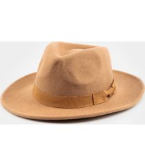nina bow band wool panama hat - tan