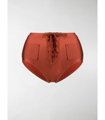 solid & striped penny lace-up bikini bottoms