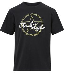 t-shirt deconstructed chuck patch short sleeve tee