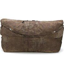 ziggy chen oversized duffle bag - brown