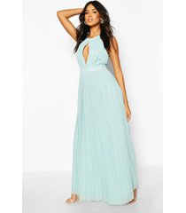 bridesmaid occasion pleated panel detail maxi dress, sage