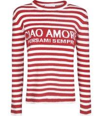 giada benincasa stripe woven sweater