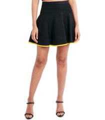 bcbgmaxazria flared mini skirt
