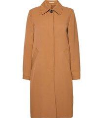 wells carcoat dunne lange jas bruin filippa k