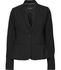 classic-fit washable italian wool-blend blazer blazers business blazers svart banana republic