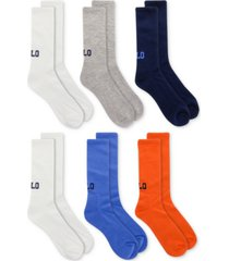 polo ralph lauren men's 6-pk. logo crew socks