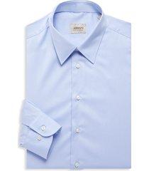 armani collezioni men's solid shirt - blue - size 17 43