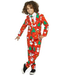 boy's opposuits holiday hero two-piece suit with tie