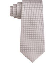 calvin klein men's fixture grid skinny tie