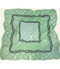 pañuelo verde nuevas historias cadenas y lunares ba536-36