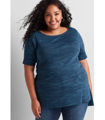 lane bryant women's perfect sleeve boatneck tunic 10/12 moonlit ocean