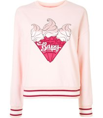 bapy by *a bathing ape® ice cream sweatshirt - pink