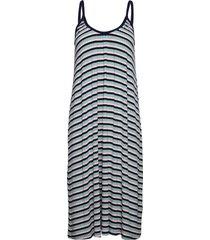 5x5 stripe duci knälång klänning blå mads nørgaard