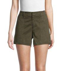 pure navy women's side-stripe shorts - olive - size 2