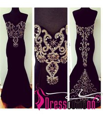 new mermaid affordable black satin long black prom dress/evening/formal gown q48