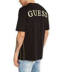 guess men's oversized double logo t-shirt