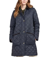 barbour lovell hooded quilted coat