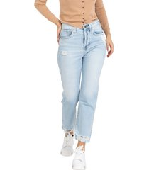 diane light denim jeans with rips
