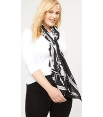 lane bryant women's floral houndstooth scarf onesz black