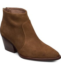 h-4021 shoes boots ankle boots ankle boot - heel brun wonders