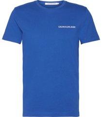 small institutional logo chest t-shirt azul calvin klein