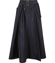 max mara long belted skirt