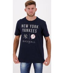 camiseta new era essentials mlb new york yankees masculina