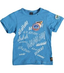 replay stevig zacht blauw jongens shirt
