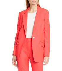 women's rag & bone ames stretch wool twill blazer, size 14 - pink